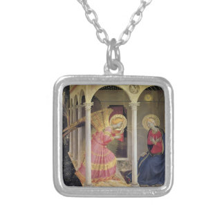 Fra Angelico- Annunciation Silver Plated Necklace