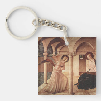 Fra Angelico Art Single-Sided Square Acrylic Key Ring