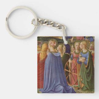 Fra Angelico Art Single-Sided Square Acrylic Key Ring