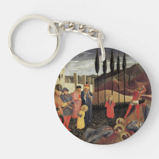 Fra Angelico- Beheading of St Cosmas,St Damian Keychain