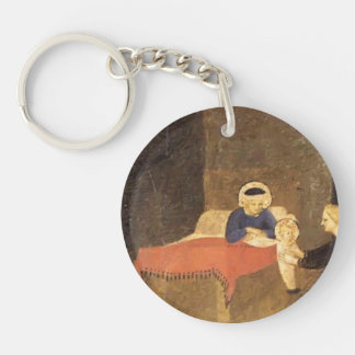 Fra Angelico- Birth of the Virgin Acrylic Key Chain