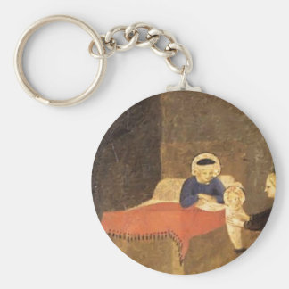 Fra Angelico- Birth of the Virgin Key Chain