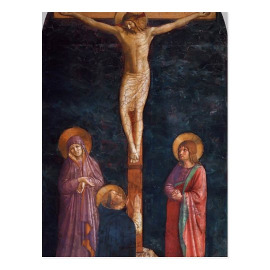 Fra Angelico- Crucifixion with St. Dominic Postcard