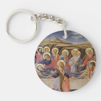 Fra Angelico- Death of the Virgin Single-Sided Round Acrylic Key Ring