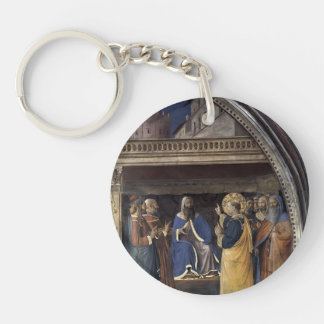 Fra Angelico- Dispute before Sanhedrin Single-Sided Round Acrylic Key Ring