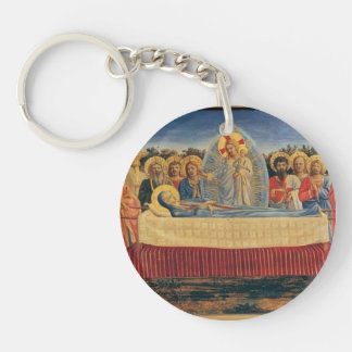 Fra Angelico- Dormition of the Virgin Keychain
