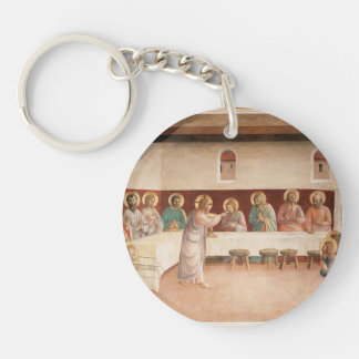 Fra Angelico- Institution of the Eucharist Single-Sided Round Acrylic Key Ring