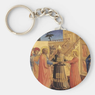 Fra Angelico- Marriage of the Virgin Keychains