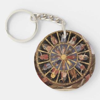 Fra Angelico- Mystic Wheel (The Vision of Ezekiel) Acrylic Key Chain