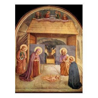 Fra Angelico- Nativity Postcard