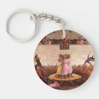 Fra Angelico-Saint Cosmas & Saint Damian Condamned Single-Sided Round Acrylic Key Ring