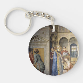 Fra Angelico- St.Lawrence Receiving the Treasures Keychains