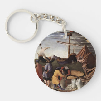 Fra Angelico- St. Nicholas saves the ship Keychains
