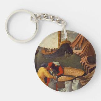 Fra Angelico- St. Nicholas saves the ship Acrylic Key Chain