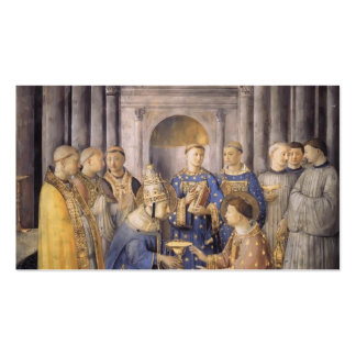Fra Angelico- St. Peter Consacrates St. Lawrence Business Cards