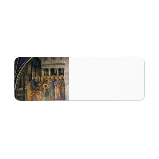 Fra Angelico- St. Peter Consacrates Stephen Deacon Return Address Label