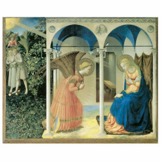 Fra Angelico - The Annunciation Holiday Ornament Acrylic Cut Out