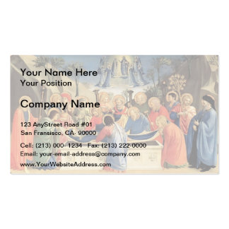 Fra Angelico- The Burial of the Virgin Double-Sided Standard Business Cards (Pack Of 100)
