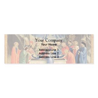 Fra Angelico- The Burial of the Virgin Double-Sided Mini Business Cards (Pack Of 20)