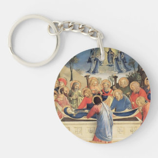 Fra Angelico- The Burial of the Virgin Acrylic Key Chains