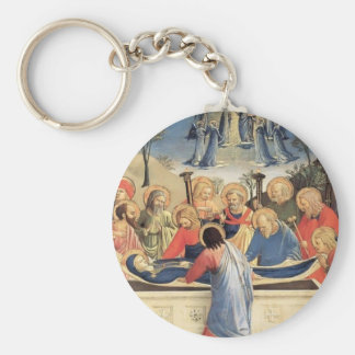 Fra Angelico- The Burial of the Virgin Key Chain