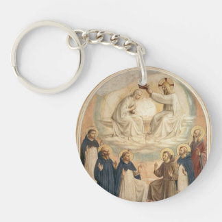 Fra Angelico- The Coronation of the Virgin Acrylic Key Chains
