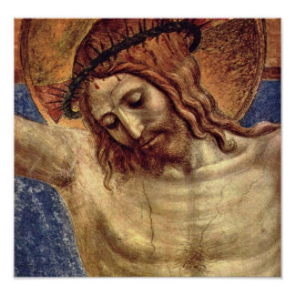 Fra Angelico - The crucified and San Domenico Print