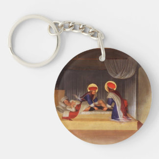 Fra Angelico- The Healing of Justinian Keychains