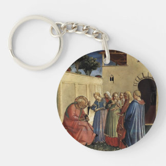 Fra Angelico- The Naming of St. John the Baptist Key Chains
