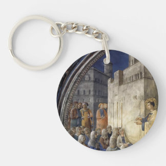 Fra Angelico- The Sermon of St. Stephen Keychains