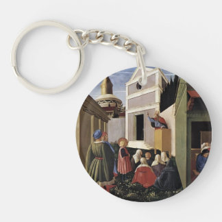 Fra Angelico- The Story of St. Nicholas Single-Sided Round Acrylic Key Ring