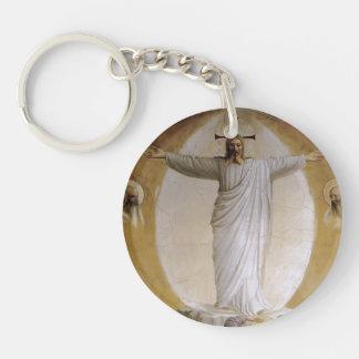 Fra Angelico- Transfiguration Single-Sided Round Acrylic Key Ring