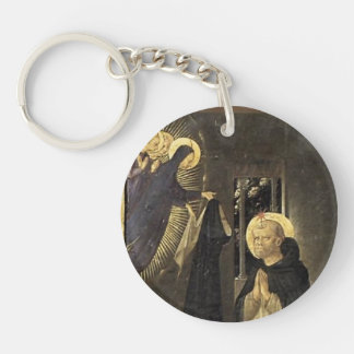 Fra Angelico- Virgin Consigns Habit to St. Dominic Single-Sided Round Acrylic Key Ring