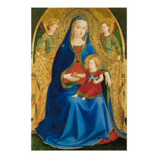 Fra Angelico Virgin with pomegranate CC0845 Poster