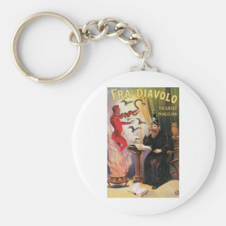 Fra Diavolo ~ The Great Magician Vintage Magic Act Basic Round Button Key Ring