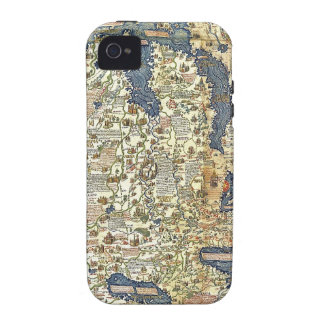 Fra Mauro Map Case-Mate iPhone 4 Cases