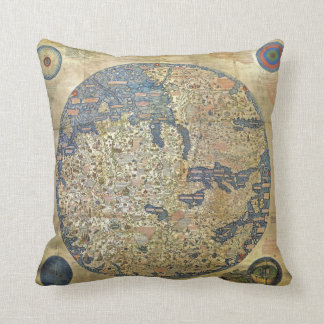 Fra Mauro Map Pillow