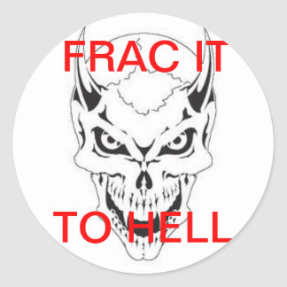 FRAC DEVIL ROUND STICKER