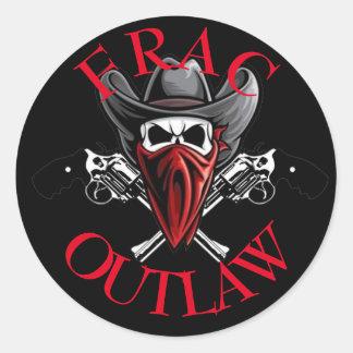 Frac Outlaw Round Sticker