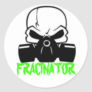 FRACINATOR ROUND STICKER