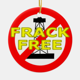 Frack Free UK Round Ceramic Decoration