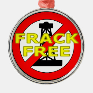 Frack Free UK Silver-Colored Round Decoration