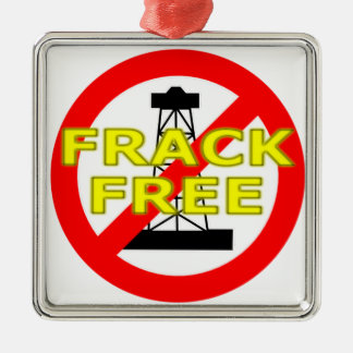 Frack Free UK Silver-Colored Square Decoration