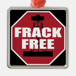 Frack Free USA Silver-Colored Square Decoration