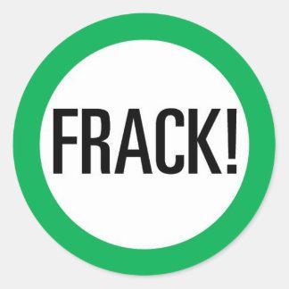 Frack! Round Sticker