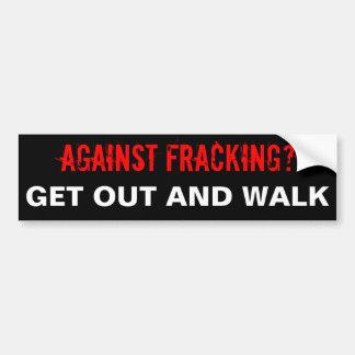 Fracking Bumper Sticker, Black Bumper Sticker