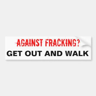 Fracking Bumper Sticker, White