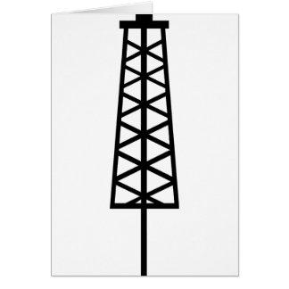 Fracking Tower Greeting Card