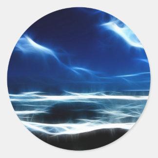 Fract-a-seascape Round Sticker