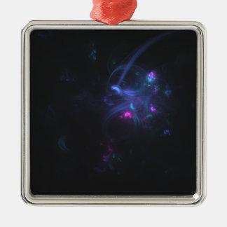 fractal 10 Silver-Colored square decoration